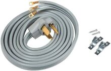 ACUPWR A103010 3 Wire Dryer Power Cord 10  with Safe Power Coating Technology