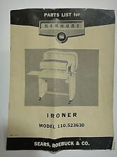 1950s Kenmore Electric Dryer Model 110 7008601 Parts List Sears Reobuck   Co