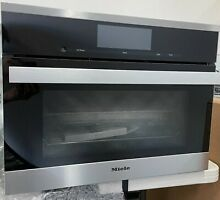 Miele PureLine M Touch Series DGC6800 1 24  Single Steam Oven  stainless steel