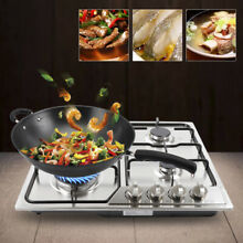 Stainless Steel 4 Burners Built in Stove Gas Cooktop Cooker Natural Gas LPG USA