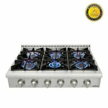 36  Thor Gas Range Oven Stove Top 6 Burners Stainless Steel Counter Glass Flat