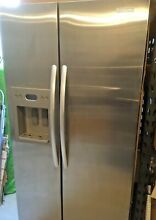 KITCHENAID   3 SIDED STAINLESS SIDE BY SIDE REFRIGERATOR COUNTER DEPTH  NO LIGHT