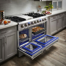 Thor Kitchen 48  Gas Range Oven Cooktop In Stainless Steel Dual Fuel  HRD4803U