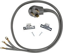 Certified Appliance Accessories 30 Amp Appliance Power Cord  3 Prong Dryer Cord