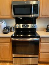 Microwave GE 1 6 cu  ft  Over the range stainless steel  Available for pick up