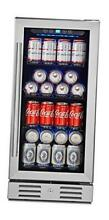 15  Beverage Cooler and Refrigerator Under Counter Built in or 96 Can