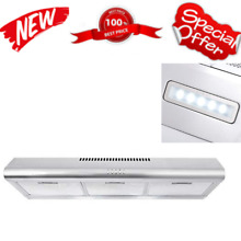 36  Under Cabinet Range Hood Ductless Convertible Duct Slim Kitchen Stove Vent