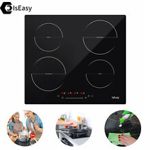 IsEasy 23  Electric Induction Cooktop 4 Burners Touch Control Built In Black US