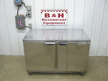 Beverage Air UCR48A 4  Under Counter Stainless 2 Two Door Refrigerator Cooler