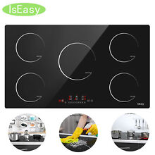 36  Electric Induction Cooktop 5 Burners Drop In Touch Control Appliances IsEasy