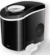 Caynel 26lb  Portable Countertop Ice Maker Machine Self cleaning  Black