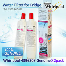 2 X NEW GENUINE WHIRLPOOL FRIDGE WATER FILTER 4396508