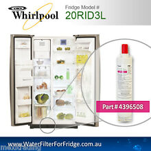 WHIRLPOOL FRIDGE WATER FILTER FOR 20RID3L FRIDGE MODEL 4396508 ORIGINAL PART