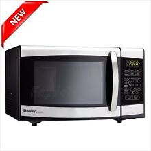 Microwave Countertop Oven Compact Machine Cooking Black Stainless Steel Kitchen