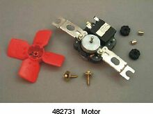 Genuine 482731 Whirlpool Refrigerator Evaporator Fan Motor Kit