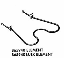 Genuine 865940 Whirlpool Range Oven Bake Element
