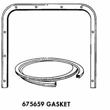 Genuine 675659 Whirlpool Dishwasher Dishwasher Door Gasket Assembly