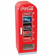 Coca Cola Beverage Cooler Mini Refrigerator Coke Drink Office Dorm RV Home Retro