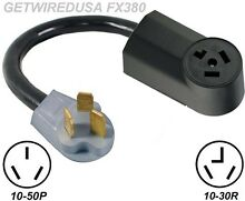 3 PRONG 10 50P RANGE PLUG to NEW 3 PIN 10 30R DRYER RECEPTACLE CORD ADAPTER