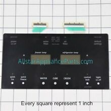 241973811 Frigidaire Electrolux Touch Pad Refrigerator Dispenser Control Overlay