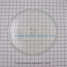 WB49X10129 GE Microwave Oven Turntable Glass Tray