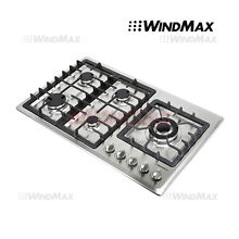 34  Built In 5 Burner Cooktop Gas Hob Stainless Steel Gas Stove Kitchen Cooker