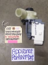 WHIRLPOOL TESTED WASHER DRAIN PUMP PART NUMBER  W10215134 FREE SHIPPING