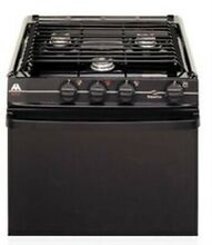 RV 21  3 Burner Atwood Range Oven Black Model 52275 Match Light