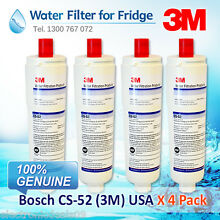 4 Pack  of  Bosch  Fridge  filters BOSCH Refrigeration KAN58A40AU 06 KAN58A40AU