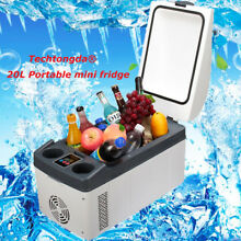 Portable 20L Mini Refrigerator Cooler   Warmer for Car DC 12 24V and Home 220V