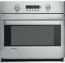 GE Monogram ZET1SMSS 30 Inch 4 4 cu  ft Glide Racks Single Electric Wall Oven
