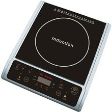 Induction Hot Plate Portable Dual Function Multiple Power Settings Cookware New