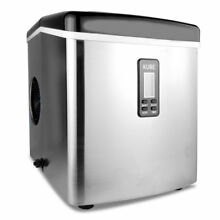 LCD Display Stainless Steel Ice Maker Portable Countertop Icemaker 15kg 24hours