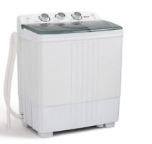 Della Small Compact Portable Mini Washing Machine Twin Tub Washer w Spin Dryer