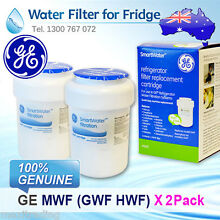 2x NEW GENUINE GE MWF FRIDGE WATER FILTER FOR GCE21XGYBFLS