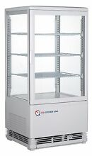 EQ White Commercial Refrigerated Display Case Glass Beverage  16 85x15 2x34 84