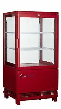 EQ Red Commercial Refrigerated Display Case Glass Beverage  16 85x15 2x31 89