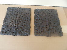 2 Original Cast Iron Lava Rock Grates  Jenn Air Stove Grill