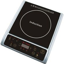 Hot Plate Induction Portable Durable Dual Function Cook Warm Stainless Look Home