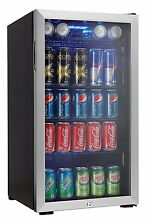 Danby 120 Can Beverage Center  Stainless Steel Mini Fridge Bar Accessories Wine