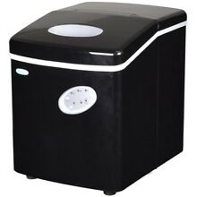 Portable Ice Cube Maker Machine Black Compact Built Freestanding 28 Lb Per Day