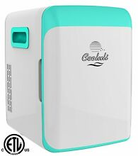 Cooluli Mini Fridge Electric Cooler and Warmer 15 Liter  18 Can AC DC Turquoise