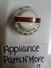WILCOLATOR  TAPPAN GAS OVEN CONTROL KNOB Vintage Stove Parts New Old Stock