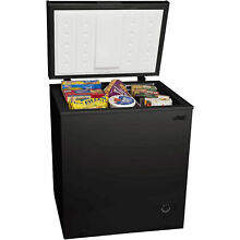 NEW 5 0 cu ft Chest Deep Freezer Upright Compact Dorm Apartment Home Black