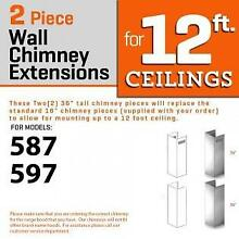 ZLINE WALL Chimney Extension up to 12 ft ceiling for models 597  587  2PCEXT