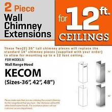 ZLINE Wall Chimney Extension for 12 ft ceiling models KECOM 36 42 48  2PCEXT