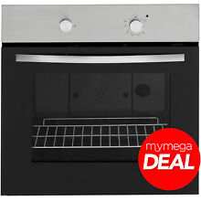 MyAppliances REF28804 60cm Built in Single Gas Oven Black   Stainless Steel