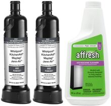 Two F2WC9I1 ICE2 Water Filters   4396808 Affresh Ice Machine Cleaner GENUINE OEM