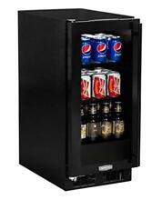 Marvel Beverage   Wine Cooler ML15BCG1LB  Left Hinge Black Frame   Glass Door