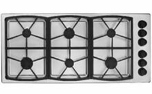 DACOR Classic 46 Inch 6 Sealed Burners Gas Cooktop Stainless SGM466SLP